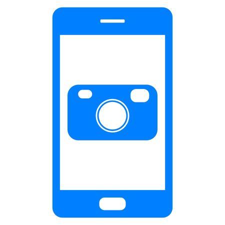 Camera and smartphone Foto de archivo - 130790135