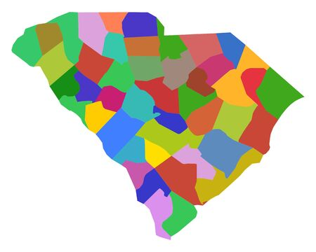 Map of South Carolina Illusztráció