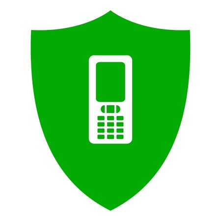 Mobile phone and shield Çizim