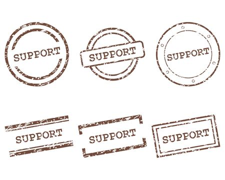 Support stamps Stock Illustratie