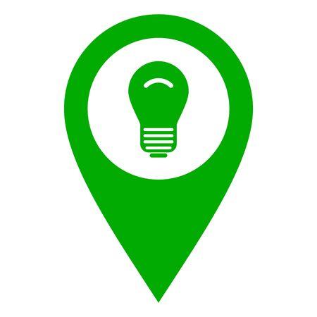 Light bulb and location pin Illustration