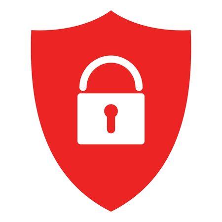 Lock and shield Çizim