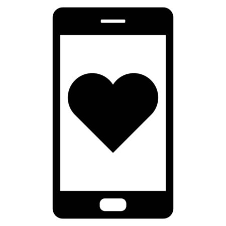 Heart and smartphone Çizim