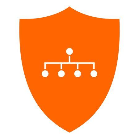 Network and shield Illusztráció