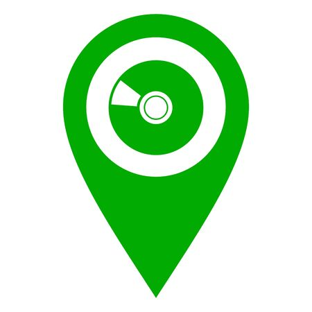 Disc and location pin