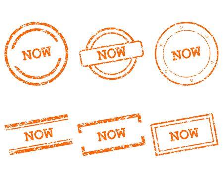 Now stamps Foto de archivo - 131102311