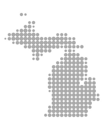Map of Michigan Иллюстрация