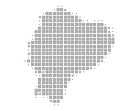 Map of Ecuador Ilustração