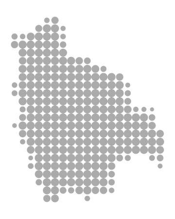 Map of Bolivia Ilustrace