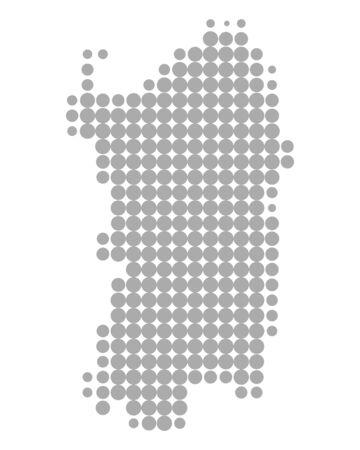 Map of Sardinia Çizim