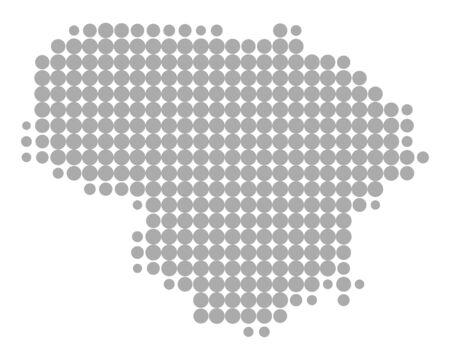 Map of Lithuania Illusztráció