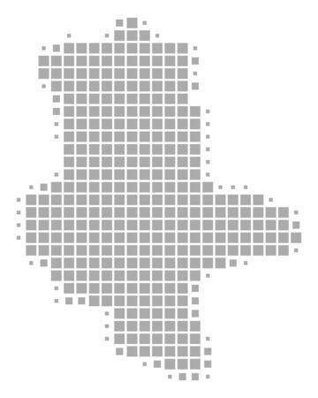 Map of Saxony-Anhalt Standard-Bild - 131127438