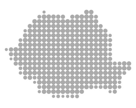 Map of Romania Stock Illustratie