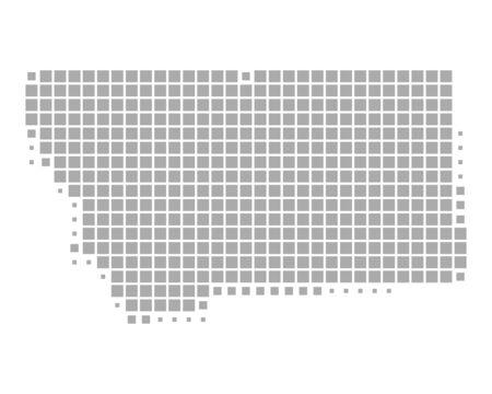 Map of Montana  イラスト・ベクター素材