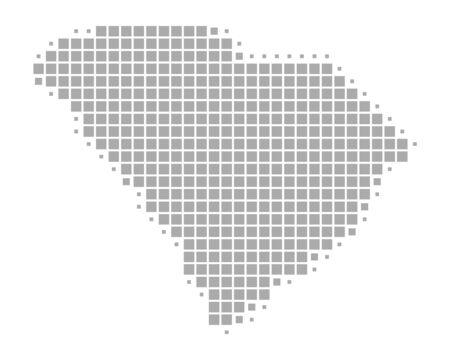 Map of South Carolina 向量圖像