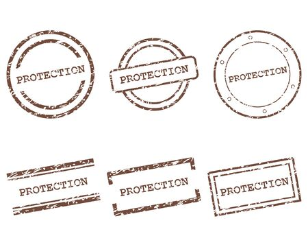 Protection stamps  イラスト・ベクター素材