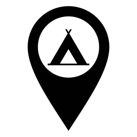 Tent and location pin