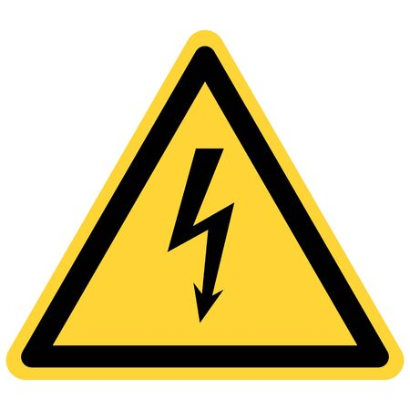 Lightning and danger sign