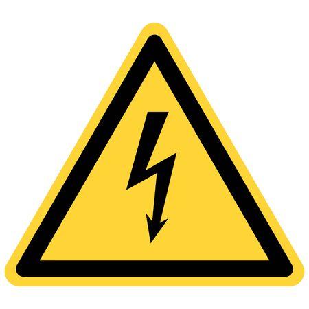 Signe de foudre et de danger