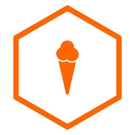 Ice cream and comb Ilustracja