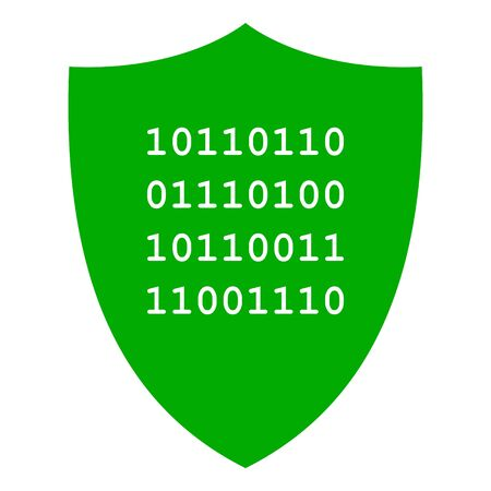 Binary code and shield Stock fotó - 133683211