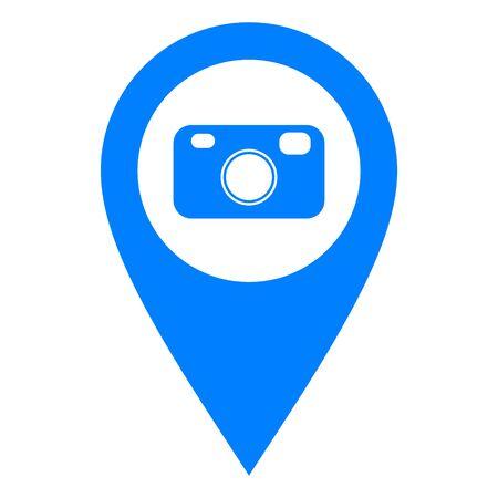 Camera and location pin
