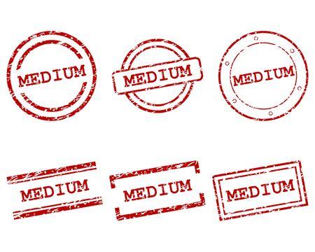 Medium stamps Vetores
