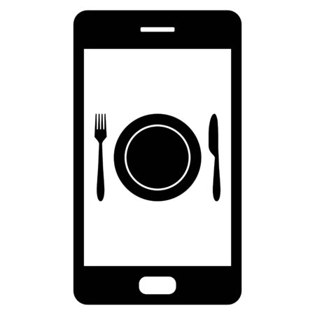 Cutlery and smartphone