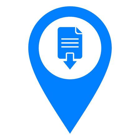 Document download and location pin