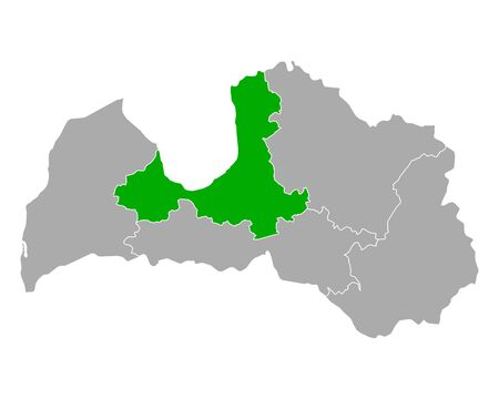 Map of Riga in Latvia