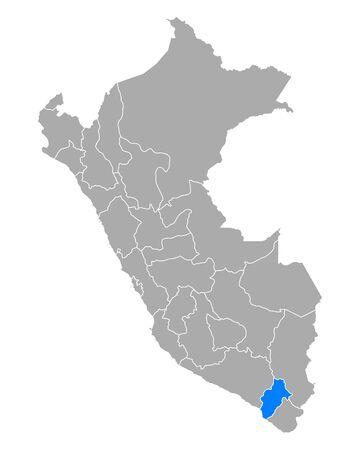 Map of Moquegua in Peru