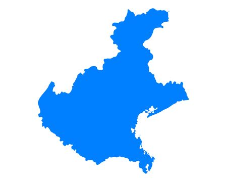 Map of Veneto 向量圖像