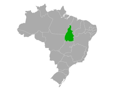 Map of Tocantins in Brazil