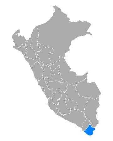 Map of Tacna in Peru