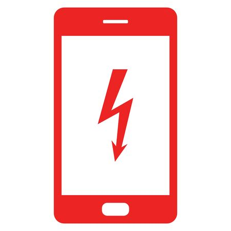 Lightning and smartphone Vector Illustration