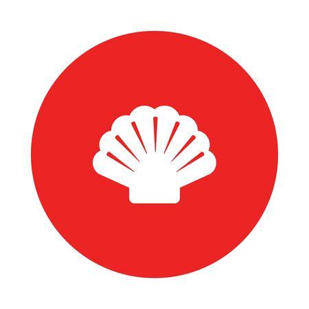 Shell and circle 向量圖像