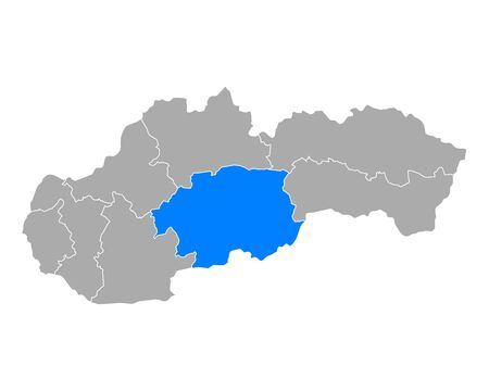 Map of Banskobystricky kraj  in Slovakia 일러스트