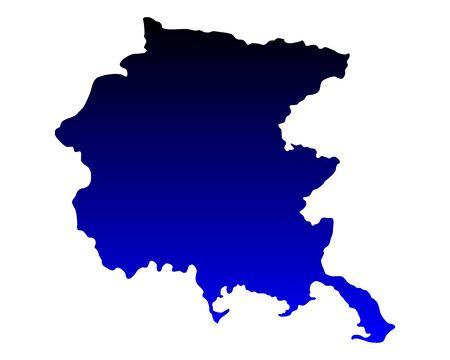 Map of Friuli-Venezia Giulia Vettoriali