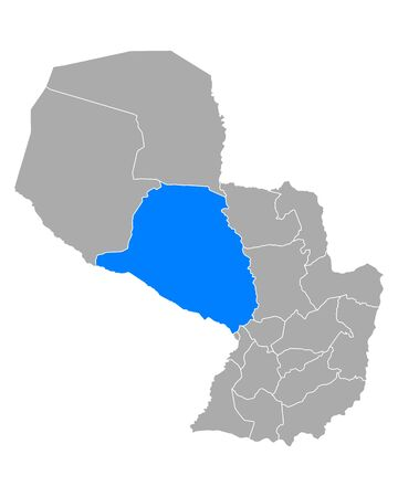 Map of Presidente Hayes in Paraguay