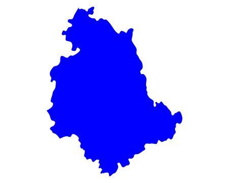Map of Umbria Ilustrace