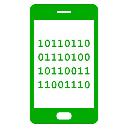 Binary code and smartphone