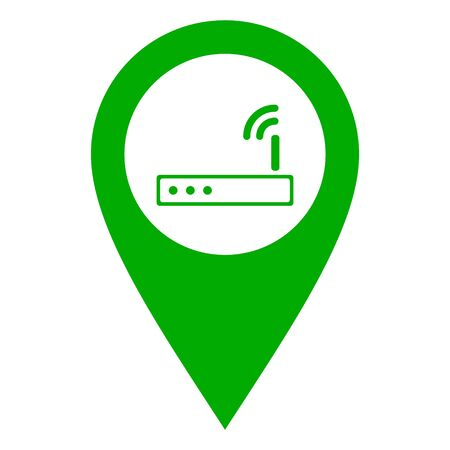 Router and location pin