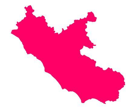 Map of Lazio