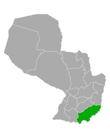 Map of Itapua in Paraguay