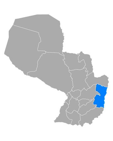 Map of Alto Parana in Paraguay