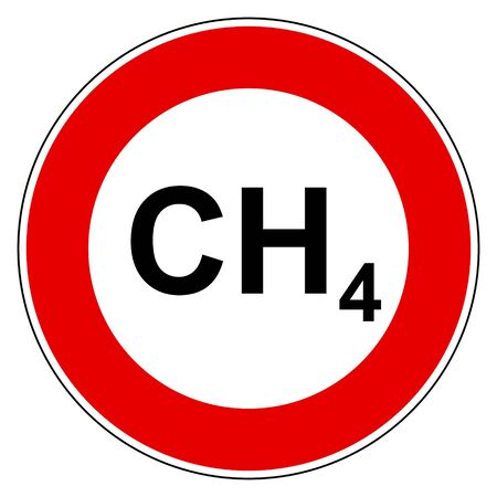 Methane and prohibition sign Stock Illustratie