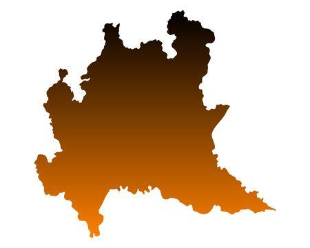 Mappa della Lombardia