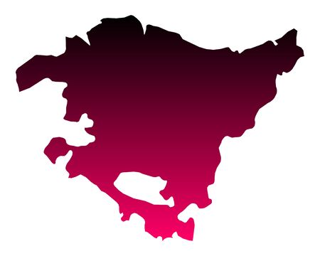 Map of Basque Country 向量圖像