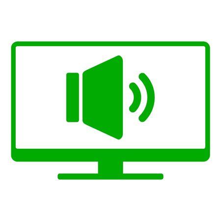 Speaker and screen 向量圖像