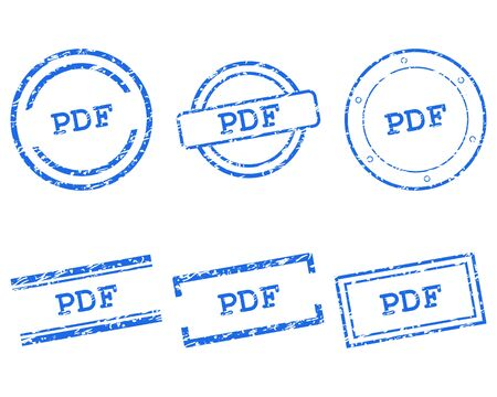 Pdf stamps 向量圖像